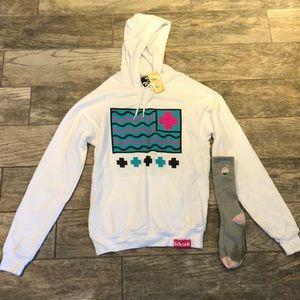 Pink Dolphin Sweatshirt and Socks